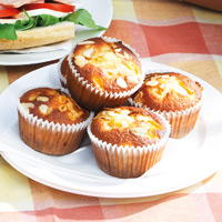 Peach Muffins - the perfect treat for any lunch box